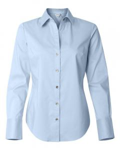 Stream Blue Women's Cotton Stretch Shirt