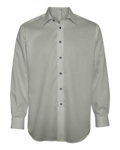 Ice Grey Adult Non-Iron Dobby Pindot Shirt