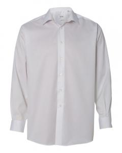 White Adult Non-Iron Micro Pincord Long Sleeve Shirt