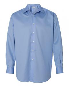 Blue Adult Non-Iron Micro Pincord Long Sleeve Shirt