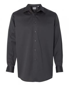 Carbon Adult Non-Iron Micro Pincord Long Sleeve Shirt