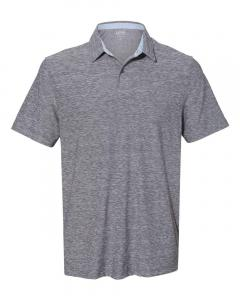 Light Grey to White Space-Dyed Sport Shirt