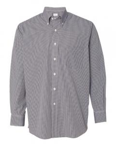 Black Men's Gingham Check Shirt