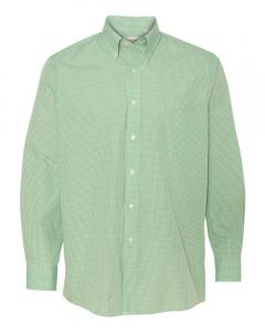 Green Chicory Men's Gingham Check Shirt
