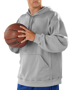 Silver Adult Performance Fleece Hooded Sweatshirt