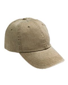 Khaki Solid Low-Profile Pigment-Dyed Cap