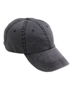 Black Solid Low-Profile Pigment-Dyed Cap