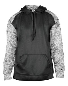 Black/ Blck Blnd Adult Sport Blend Performance Hooded Sweatshirt