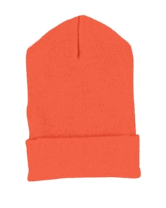 Orange Cuffed Knit Cap