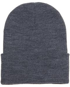 Dark Grey Cuffed Knit Cap