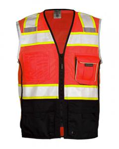 Fluorescent Red (1715) Premium Black Series® Black Bottom Class 2 Vest