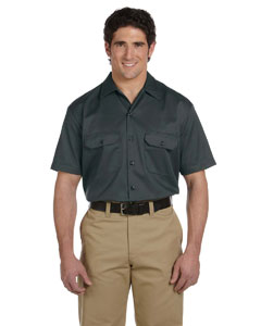 Charcoal Men's 5.25 oz. Short-Sleeve Work Shirt
