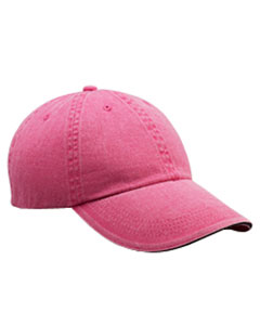 Flamingo Solid Low-Profile Sandwich Trim Pigment-Dyed Twill Cap