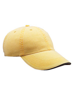 Sunshine Solid Low-Profile Sandwich Trim Pigment-Dyed Twill Cap