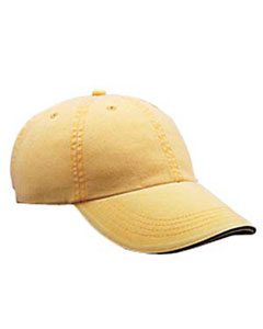 Dijon Solid Low-Profile Sandwich Trim Pigment-Dyed Twill Cap