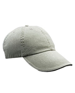 Taupe Solid Low-Profile Sandwich Trim Pigment-Dyed Twill Cap
