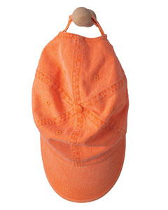 Tangerine Solid Low-Profile Sandwich Trim Pigment-Dyed Twill Cap