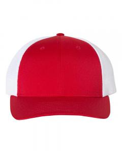 Red/ White Performance Trucker Cap