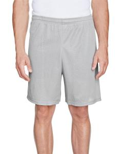 Silver Grey Adult Longer Length Tricot Mesh Short