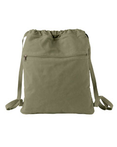 Khaki Green Pigment-Dyed Canvas Cinch Sack