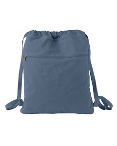 Denim Pigment-Dyed Canvas Cinch Sack