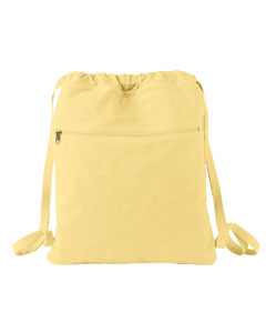 Goldenrod Pigment-Dyed Canvas Cinch Sack