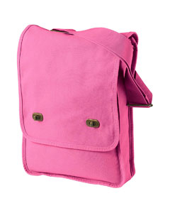 Flamingo 14 oz. Pigment-Dyed Canvas Field Bag