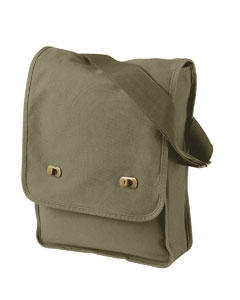 Khaki Green 14 oz. Pigment-Dyed Canvas Field Bag