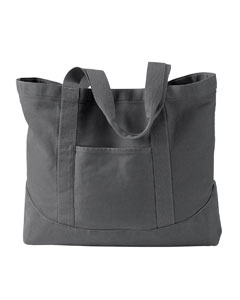 Smoke 14 oz. Pigment-Dyed Large Canvas Tote