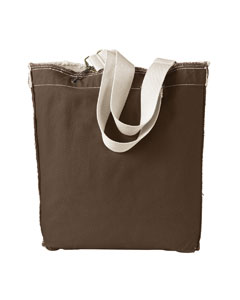 Java 14 oz. Direct-Dyed Raw-Edge Tote