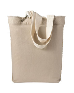 Stone 14 oz. Direct-Dyed Raw-Edge Tote