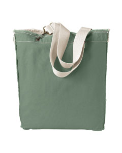 Cilantro 14 oz. Direct-Dyed Raw-Edge Tote