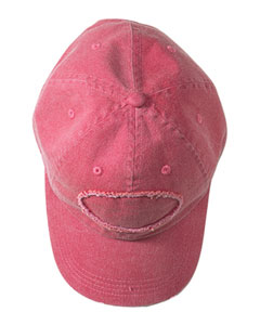 Poppy Adult Pigment-Dyed Raw-Edge Patch Baseball Cap