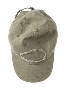Khaki Adult Pigment-Dyed Raw-Edge Patch Baseball Cap