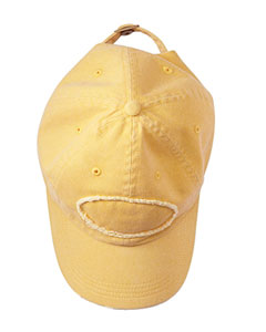 Mustard Adult Pigment-Dyed Raw-Edge Patch Baseball Cap
