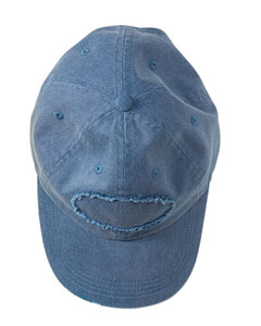 Denim Adult Pigment-Dyed Raw-Edge Patch Baseball Cap