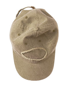Khaki Green Adult Pigment-Dyed Raw-Edge Patch Baseball Cap