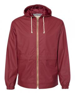 Biking Red Vintage Hooded Rain Jacket