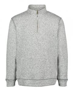 Light Grey Heather Vintage Sweaterfleece Quarter-Zip Sweatshirt