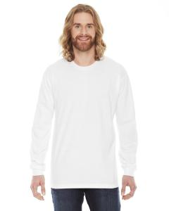 White Unisex Fine Jersey Long-Sleeve T-Shirt