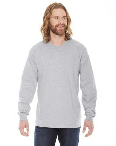 Heather Grey Unisex Fine Jersey Long-Sleeve T-Shirt