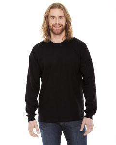 Black Unisex Fine Jersey Long-Sleeve T-Shirt
