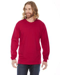 Red Unisex Fine Jersey Long-Sleeve T-Shirt