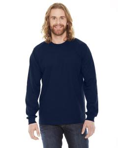 Navy Unisex Fine Jersey Long-Sleeve T-Shirt
