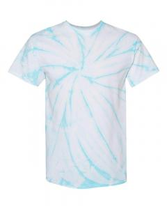 Pale Turquoise Adult Cyclone Pinwheel Short Sleeve T-Shirt