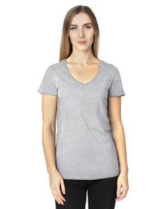 Heather Grey Ladies' Ultimate V-Neck T-Shirt