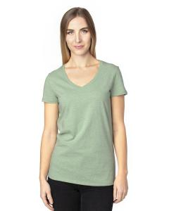 Army Heather Ladies' Ultimate V-Neck T-Shirt