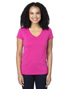 Hot Pink Ladies' Ultimate V-Neck T-Shirt
