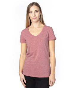 Maroon Heather Ladies' Ultimate V-Neck T-Shirt