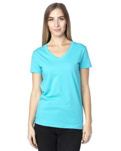 Pacific Blue Ladies' Ultimate V-Neck T-Shirt